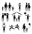 family symbols vector image