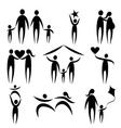 family symbols vector image vector image