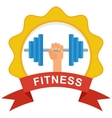 fitness logo color vector image vector image