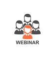 Flat design webinar icon Online education vector image