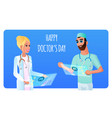 flat two smiling doctor man and woman vector image