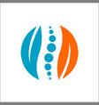 green body circle logo design vector image
