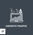 growth traffic line icon vector image vector image