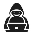 hacker icon simple style vector image
