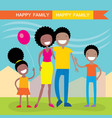 happy african american family of four members vector image vector image