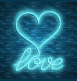 happy valentines day neon stock images vector image vector image