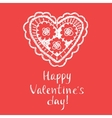 Happy Valentines Day typography Openwork vector image