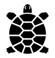 hawaii turtle icon simple style vector image