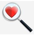 HeartSearch vector image vector image