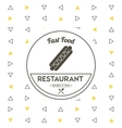 Hot dog icon Food and Menu design graphic vector image