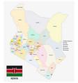 kenya administrative and political map