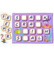logic puzzle game for kids with exercises vector image