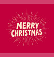 merry christmas greeting card holiday vector image