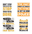 motivational quote and saying set vector image vector image