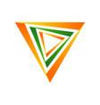 multi dimensions triangle symbol logo design vector image vector image