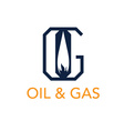 oil and gas monogram vector image vector image