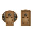 old arched door vector image