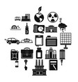 outgoings icons set simple style