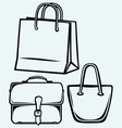 Paper bag and handbag vector image