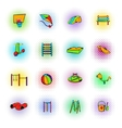 Park playground icons set vector image vector image