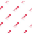 pink squid pattern seamless vector image vector image