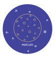 planet mercury icon in thin line style vector image vector image