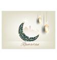 ramadan kareem with crescent moon gold luxurious vector image vector image