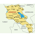 Republic of Armenia - map vector image vector image