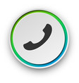 round spectrum call button vector image