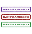 san francisco watermark stamp vector image vector image