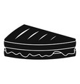 sandwich icon simple black style vector image vector image