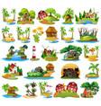 set different island landscape vector image