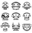 set gyroboard service store repair emblems vector image vector image