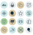 Set of 16 ecology icons includes cloud cumulus