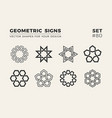 set of eight minimalistic trendy shapes stylish vector image vector image
