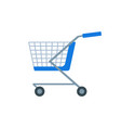 shopping cart or shop supermarket trolley baskets vector image vector image