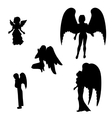 Silhouette of a black angel vector image vector image