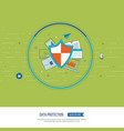 social network security and data protection vector image vector image
