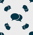 Speech bubbles icon sign Seamless pattern with vector image vector image