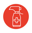 spray bottle medical product line style vector image vector image
