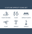 sprout icons vector image vector image