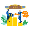 venture capital sale shares in minimalist vector image
