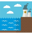 wave energy nuclear plant design vector image vector image