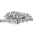 why sales people lose business text word cloud vector image vector image