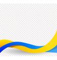 yellow and blue ribbons wavy ukrainian flag vector image vector image