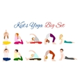 Yoga kids set Gymnastics for children vector image