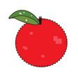 isolated pixelated apple vector image