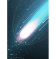 Abstract bright background with flying comet vector image