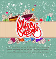 abstract christmas celebrating poster vector image vector image