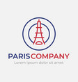 Abstract eiffel tower logo template